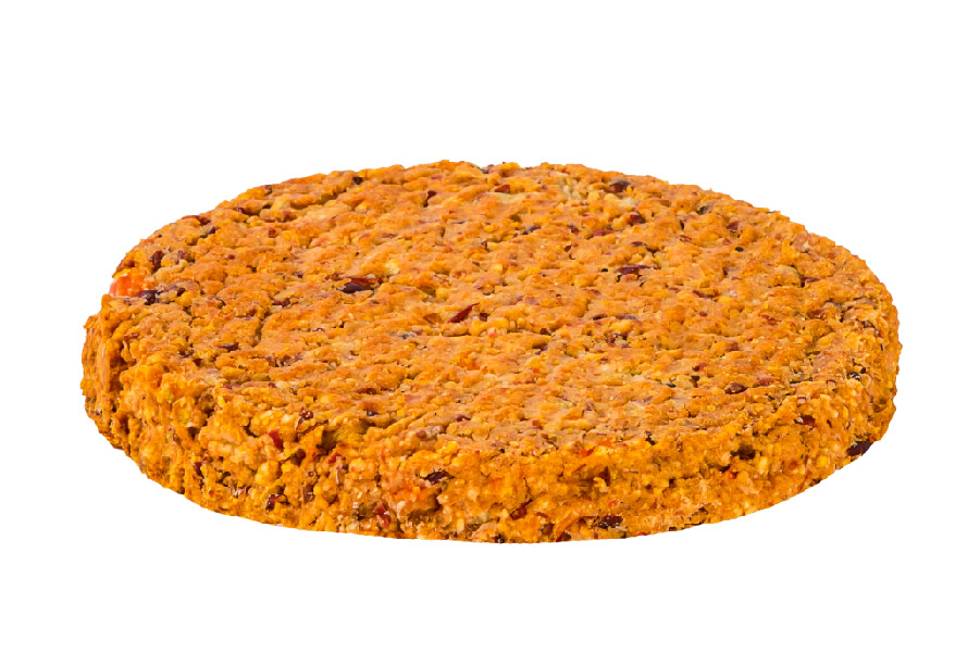 Oat and red bean patty